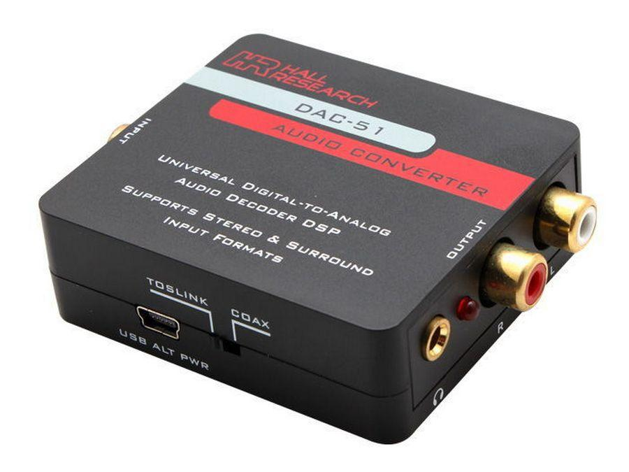 DAC-51 Universal Digital (PCM/DTS/AC3) to Analog Audio Decoder DSP by Hall Research
