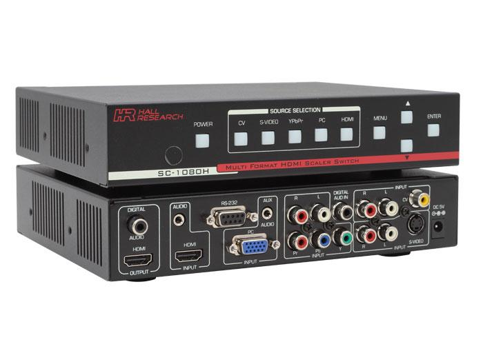 SC-1080H Multi-Format/Multi-Input Video Scaler w HDMI/DVI output by Hall Research