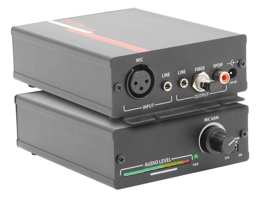 HR-101-S Compact XLR Microphone Amplifier  Stereo Line Level Mixer by Hall Research