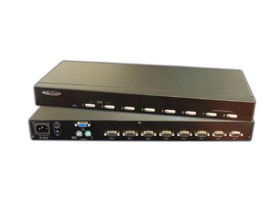MC1208 8-channel KVM switch with OSD and 1RU Kit by Hall Research