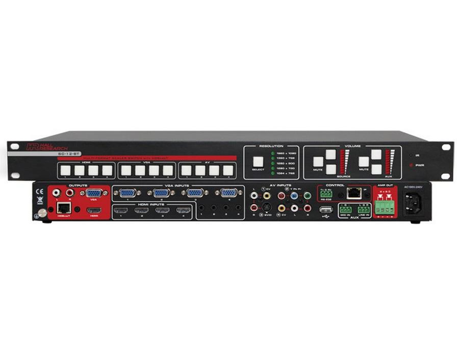SC-12BT Multi-Format Scaler Switcher with HDBaseT Output by Hall Research