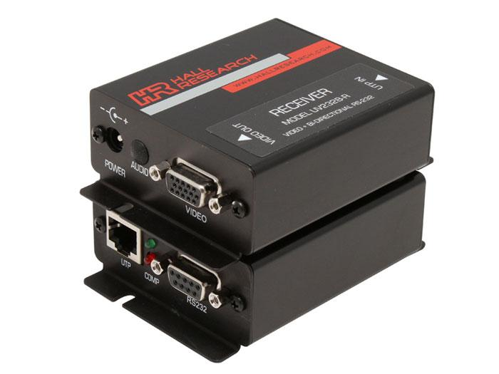UV232B VGA and Bi-Directional RS-232 Extender (Receiver/Transmitter) Kit by Hall Research