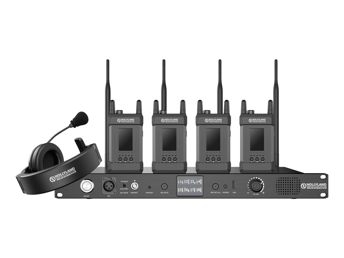 HL-Syscom-1000T-4B Full Duplex Intercom System with 4 Beltpacks - 1000ft by Hollyland