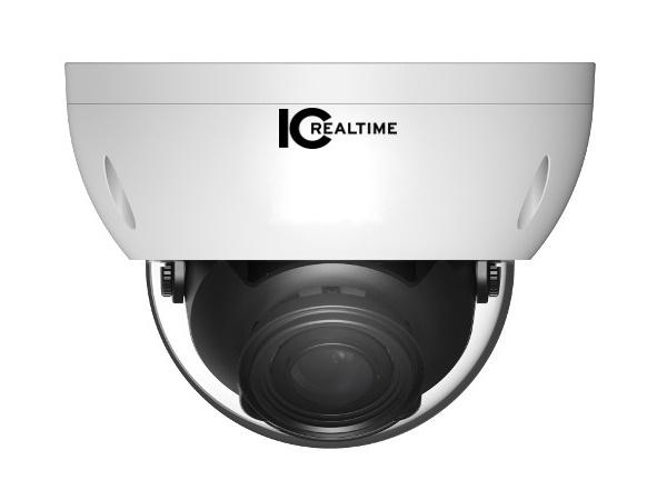 AVS-4MD5110-VIR-DP 4MP Water Proof Dome HD-AVS Camera with 90ft of Smart IR/2.7-12mm Lens/IP67/IK10/12VDC/24VAC by ICRealtime