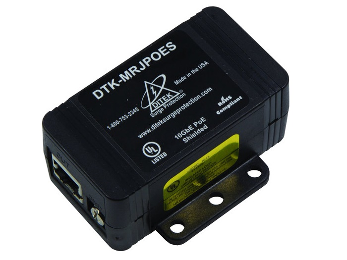 DTK-MRJPOES Shielded PoE Surge Protector by ICRealtime