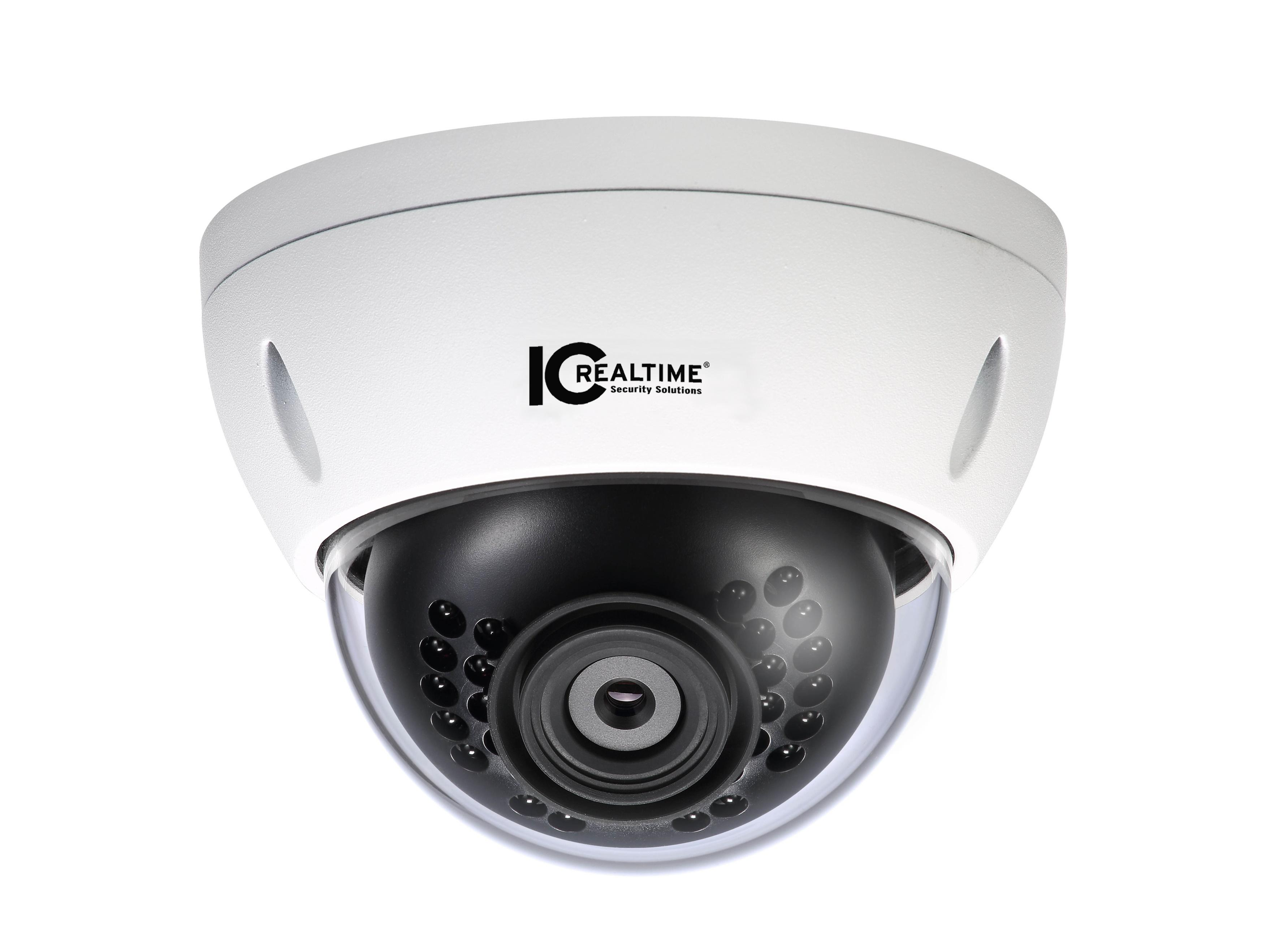 ICIP-DW302S 3MP Mini Dome Camera with WiFi/IR/2.8mm Fixed Lens/12VDC/IP67/IK10 by ICRealtime