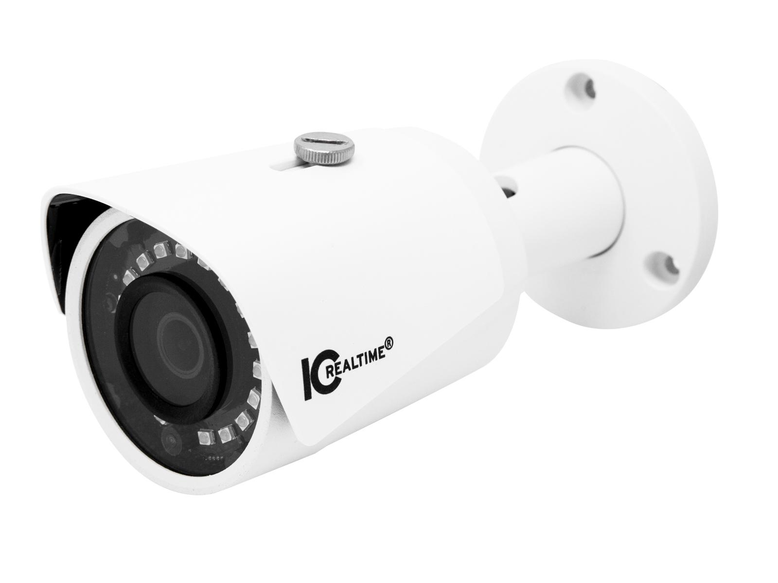 ICR-B2001-IR 2MP IP Indoor/Outdoor Bullet Camera/3.6mm Lens/98ft IR/PoE Capable by ICRealtime