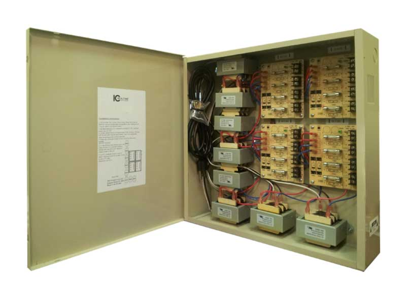 PWR-16AC-32A 16 Channel Fused Power Distribution Box/24Vac/32 Amps by ICRealtime