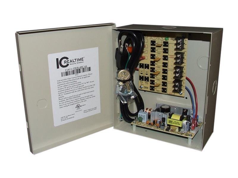 PWR-4DC-4A 4 Channel Fused Power Distribution Box/12Vdc/4 Amps by ICRealtime