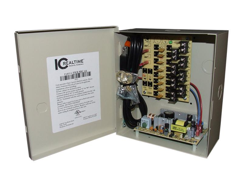 PWR-8DC-4A 8 Channel Fused Power Distribution Box/12Vdc/4 Amps by ICRealtime