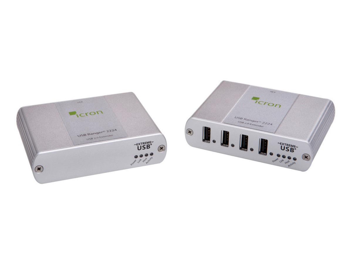 2224 USB 2.0 Ranger Legacy 4-Port Multi-Mode Fiber Extender (Transmiter/Receiver) Kit up to 500m by Icron