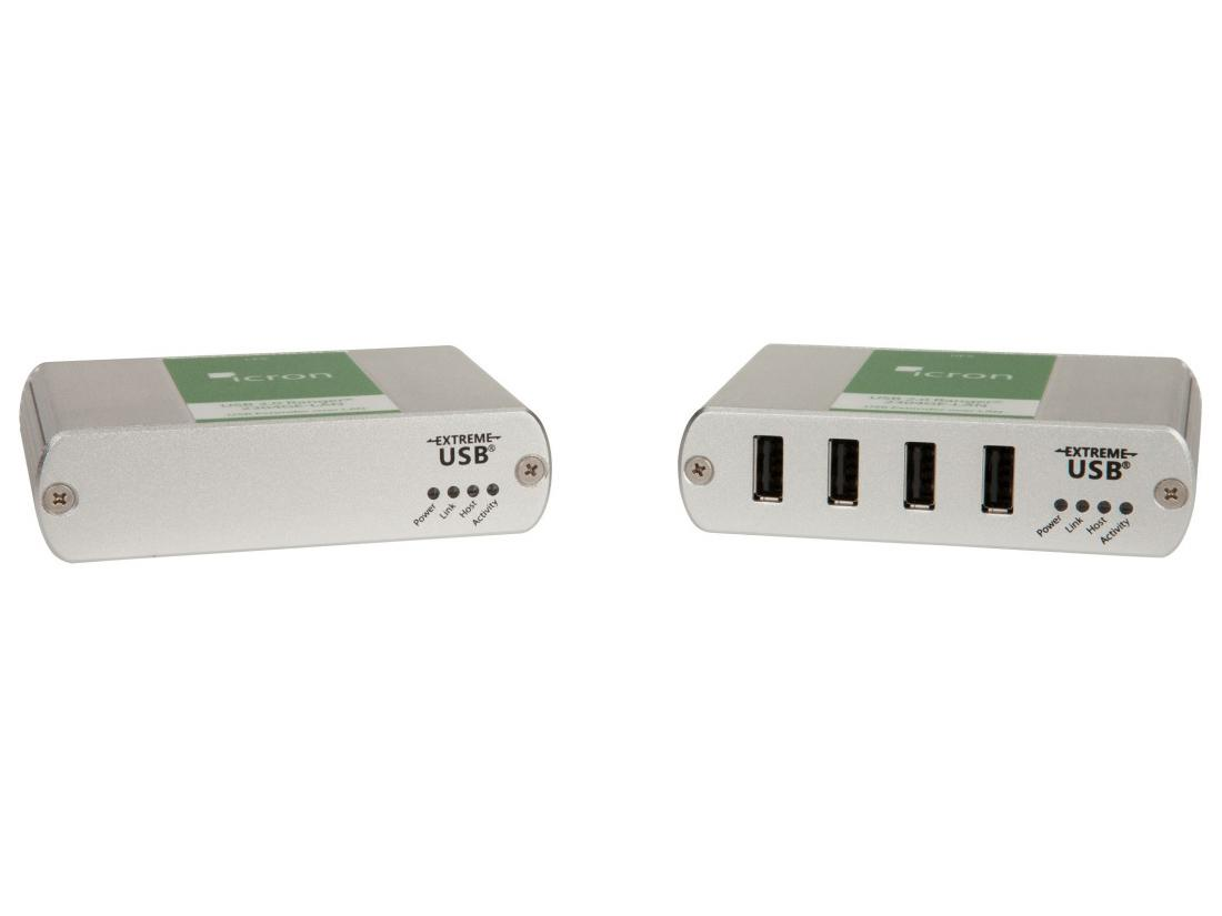 2304LAN 4-Port USB 2.0 GigE LAN Extender (Transmitter/Receiver) System up to 100m/330ft by Icron