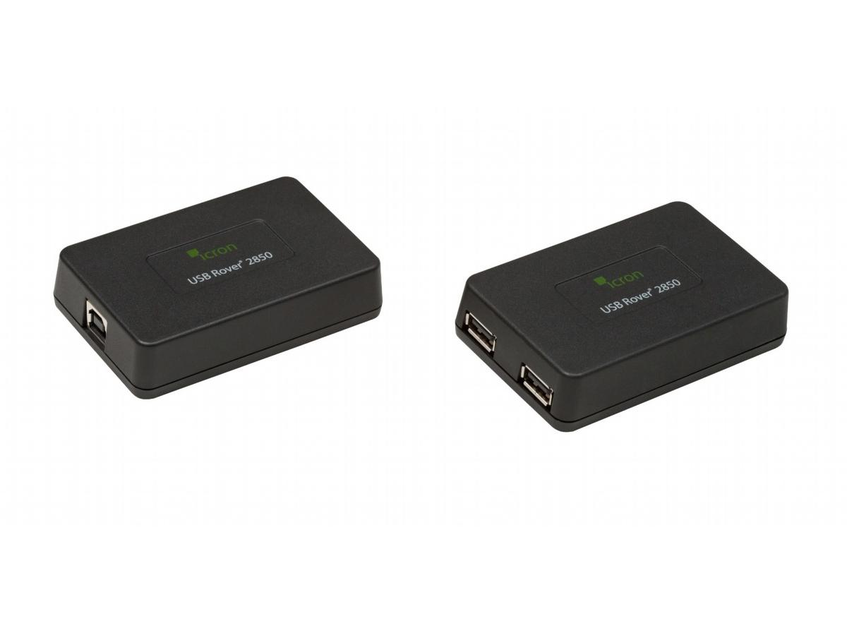 2850 USB 1.1 Rover Dual Port Extender (Transmitter/Receiver) Set over Cat5e up to 85m by Icron