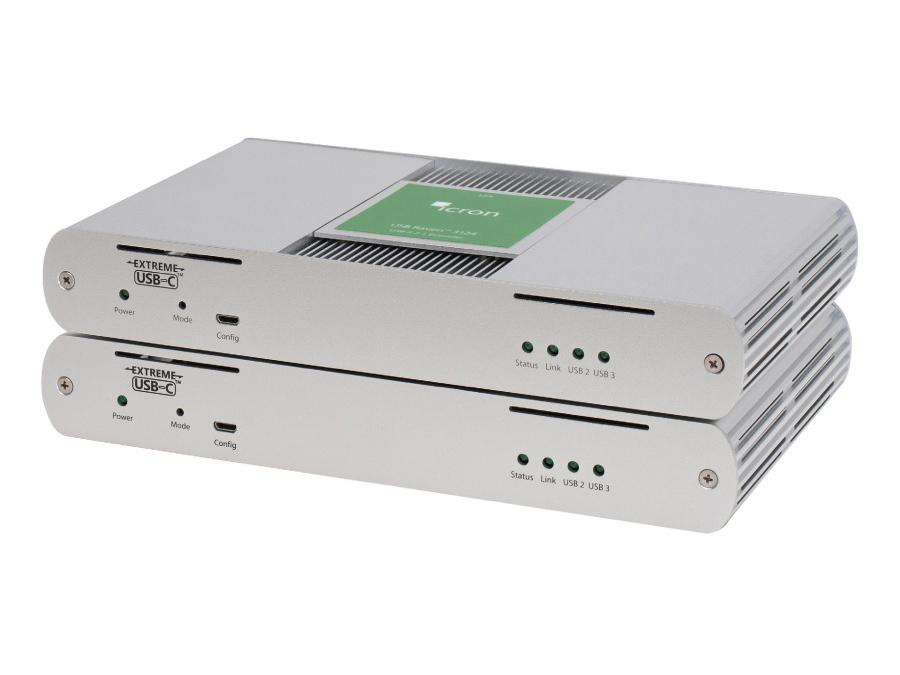 3124NA 4-Port USB 3.1 Multimode Fiber Extender (Transmitter/Receiver) System up to 200m by Icron