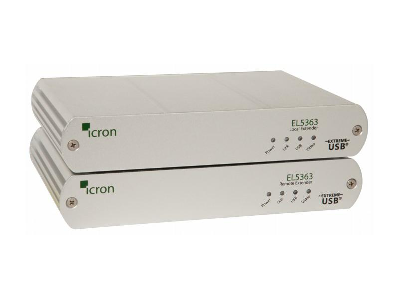 5363 KVM/HDMI/USB 2.0 Extender (Transmitter/Receiver) Set over CAT5e/6/7 up to 100m/330ft by Icron