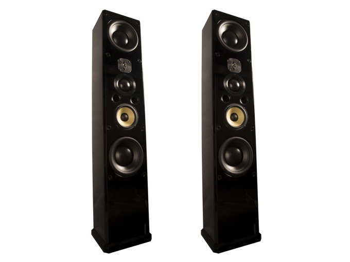 ID1 6.5in 3-Way/4-Way Speaker w Dual 10in Subwoofers/Pair by Induction Dynamics