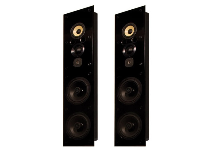 ID1.iw 6.5in 4-Way In-Wall Speaker w Dual 10in Subwoofers/Pair by Induction Dynamics