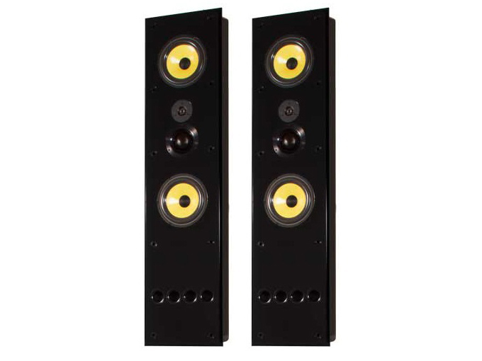 S1.8Tiw Dual 8in 3-Way In-Wall Speaker/36Hz - 20kHz/Pair by Induction Dynamics