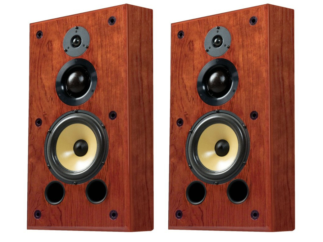 S1.8w 8in 3-Way On-Wall Speaker/50 Hz - 20 kHz/Pair by Induction Dynamics