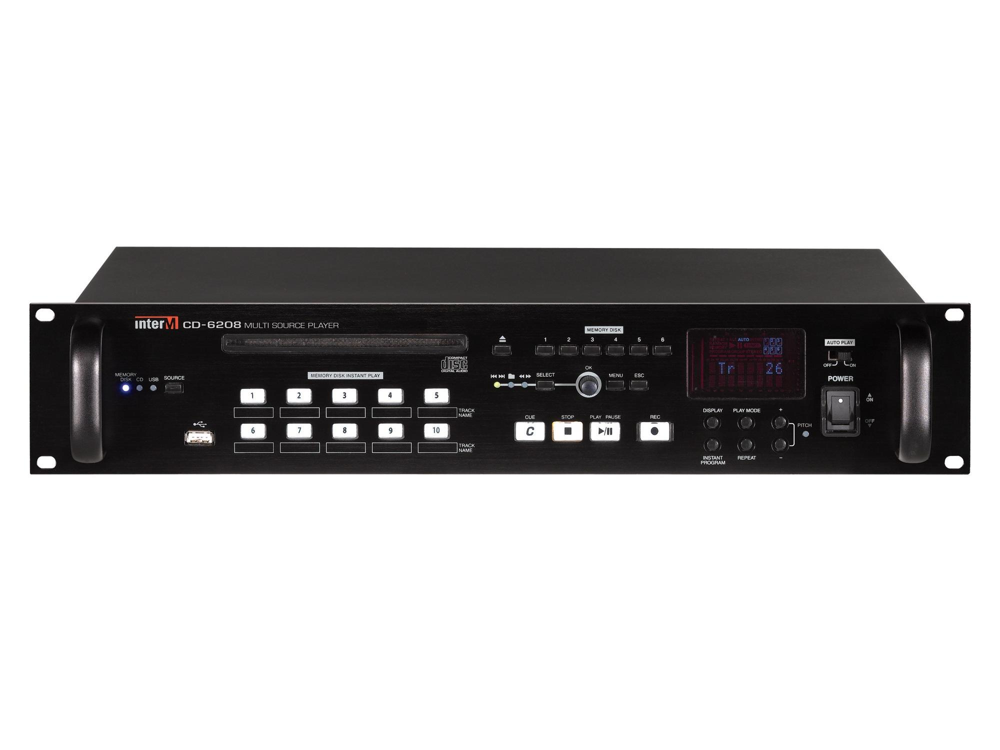 CD-6208 CD/USB Player/Virtual 6 Disc Changer/RS-232 by Inter-M