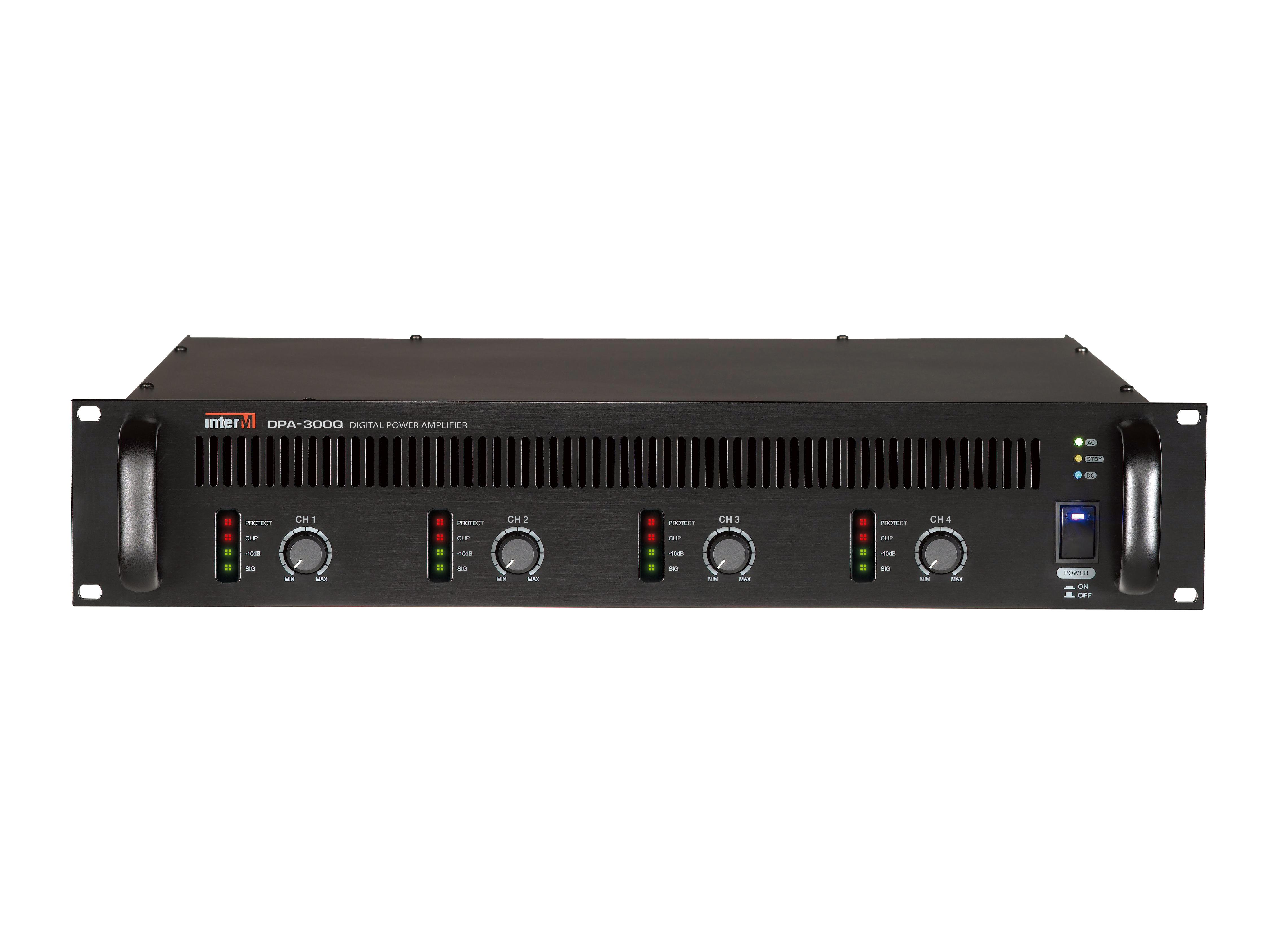 DPA-300Q 300W 4 Channel Class D Commercial Digital Power Amplifier by Inter-M