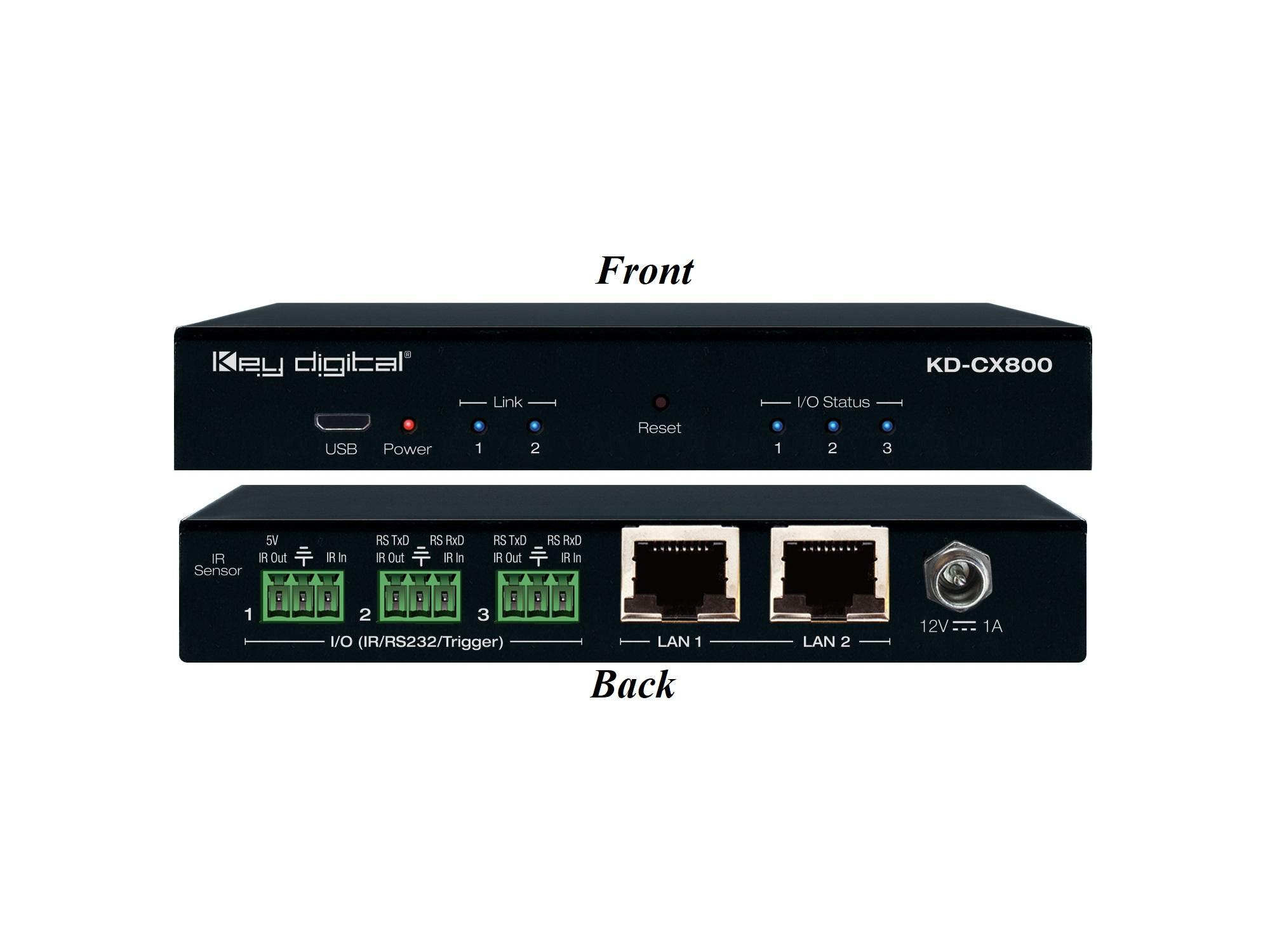 KD-CX800 Control Interface with IR and RS-232 over IP Routing by Key Digital