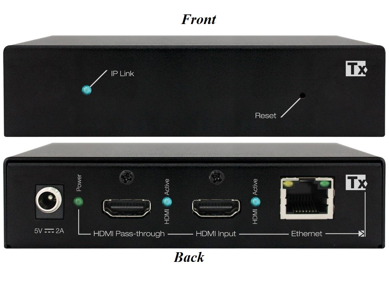 KD-IP120POETx HDMI over IP POE Extender (Transmitter) with HDMI Pass-through by Key Digital