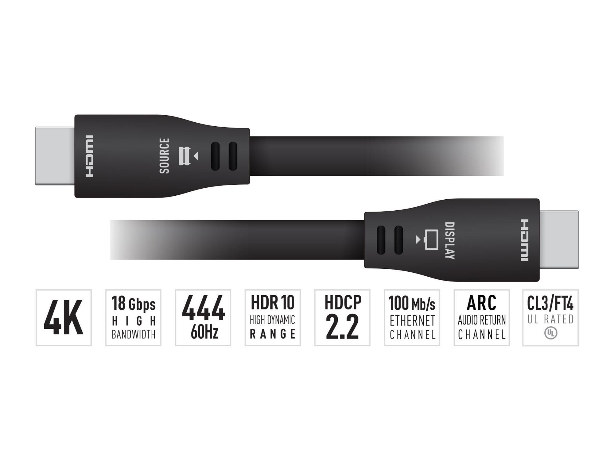 KD-Pro40GX 40ft 4K/UHD ARC/24AWG HDMI Cable with High-Speed Ethernet by Key Digital