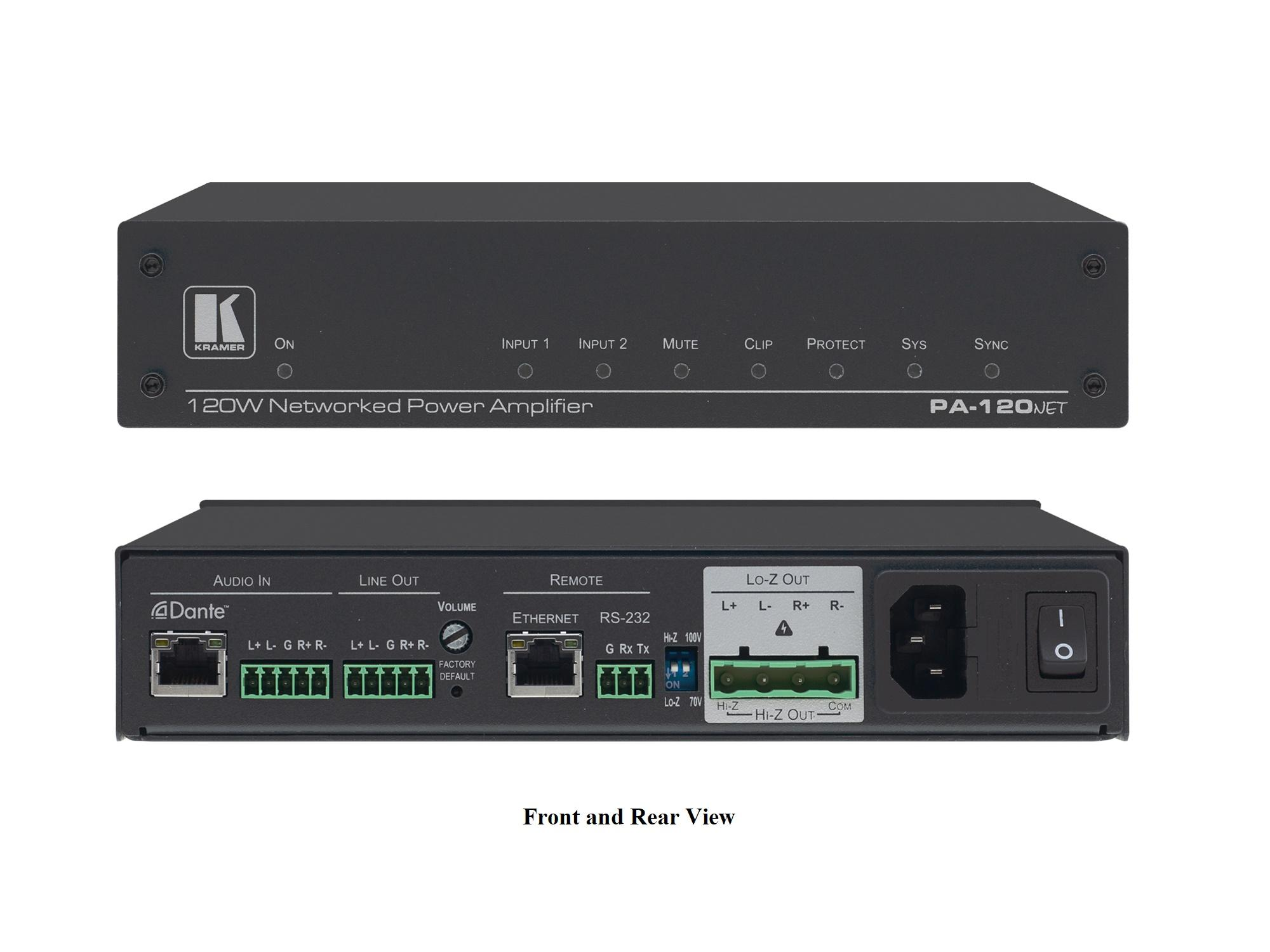 PA-120Net 120W Networked Power Amplifier by Kramer