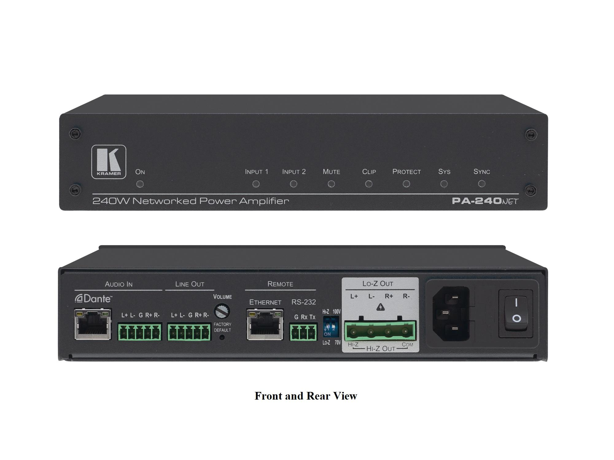 PA-240Net 240W Networked Power Amplifier by Kramer