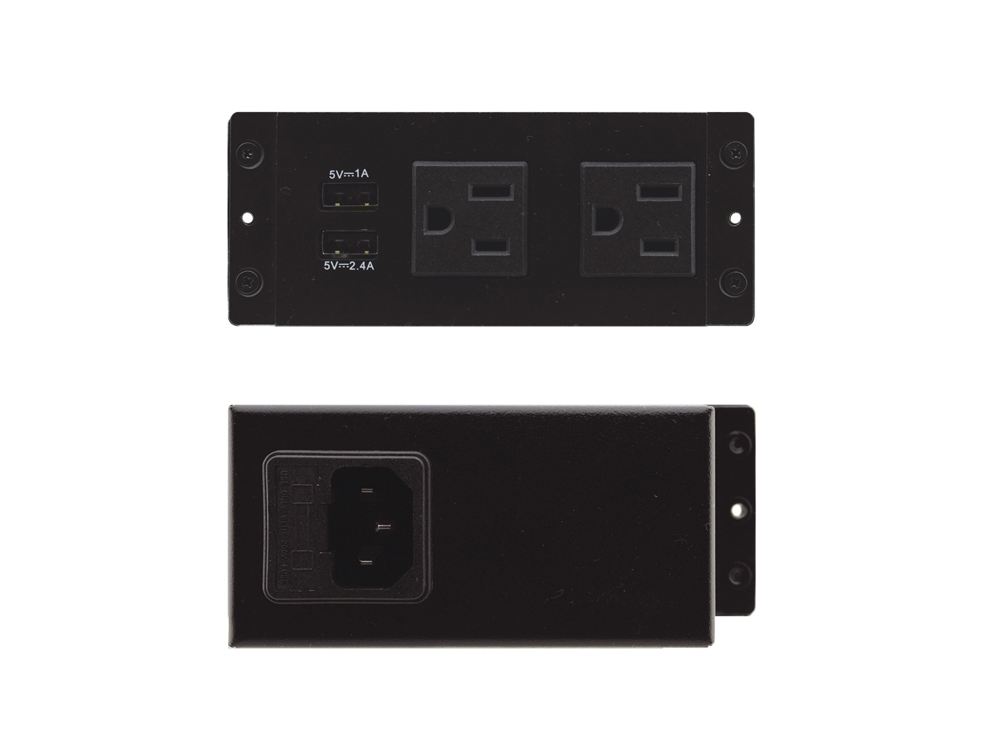 TS-2UC TBUS Dual socket module with 2 US AC power sockets and 2 USB charging ports by Kramer