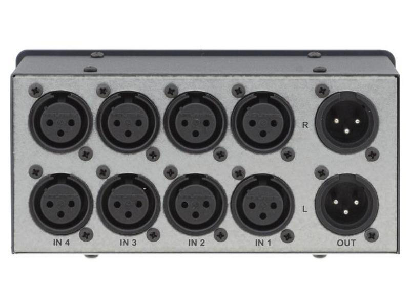 VS-4X 4x1 Balanced Stereo Audio Mechanical Switcher by Kramer
