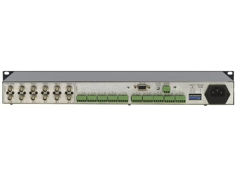 VS-5x5 5x5 Composite Video and Balanced Stereo Audio Matrix Switcher by Kramer