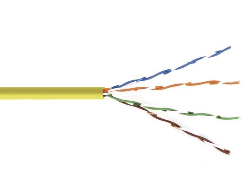 BC-6SLD-1000YL Bulk Cable Cat6-Solid Center Un-shielded twisted pair 1000ft YELLOW by Kramer