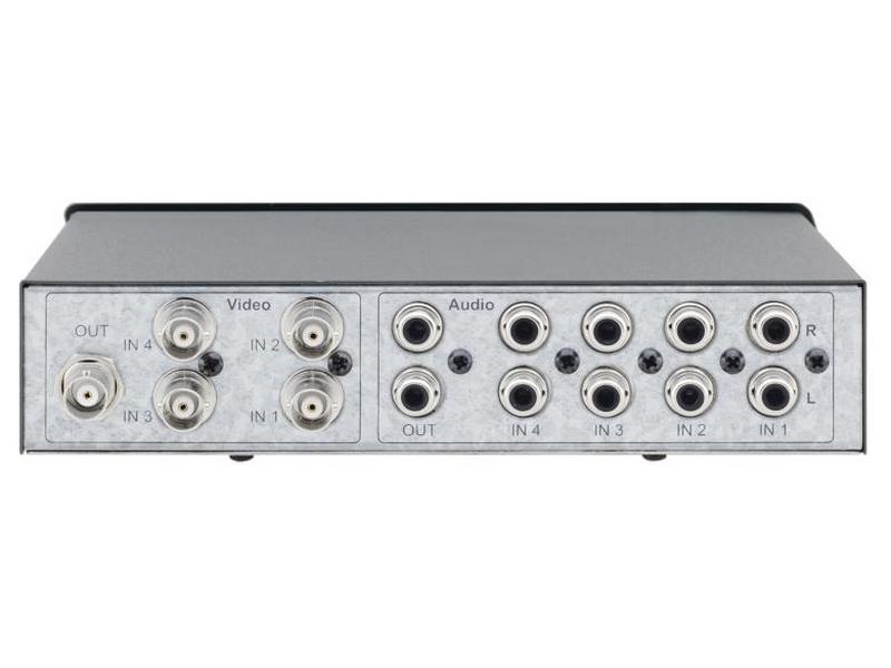 VS-41AV 4x1 Composite Video and Stereo Audio Mechanical Switcher by Kramer