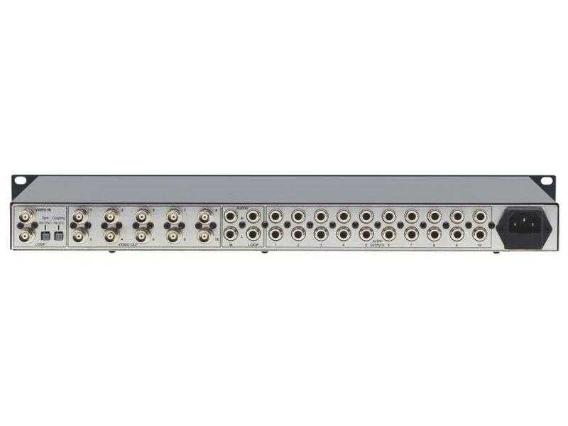 VM-10xl 1x10 Composite Video and Stereo Audio Distribution Amplifier by Kramer