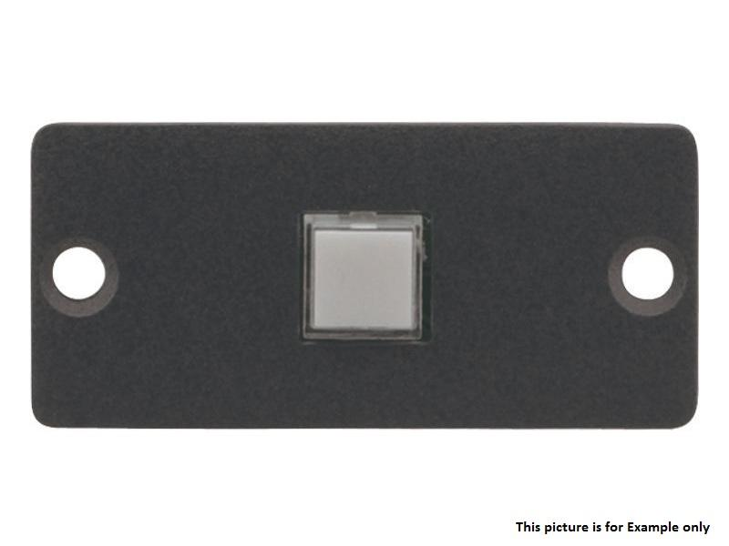RC-10TB(B) Wall Plate Insert - 1 Button Contact Closure Switch/Black by Kramer