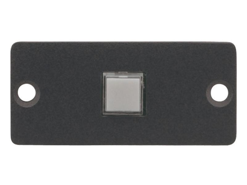 RC-10TB(G) Wall Plate Insert - 1 Button Contact Closure Switch/Gray by Kramer