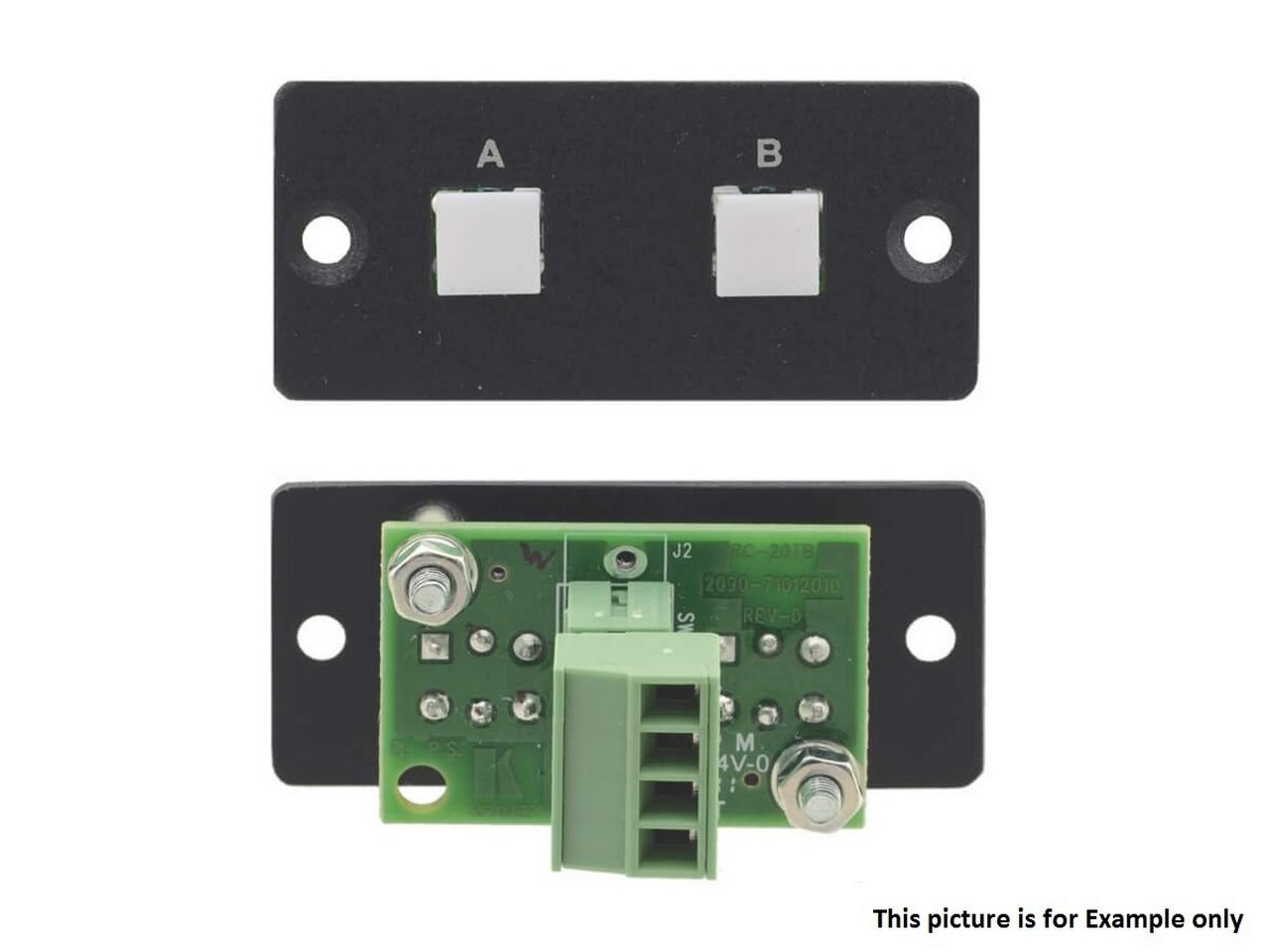 RC-20TB(B) Wall Plate Insert - 2-Button Contact Closure Switch - Black by Kramer