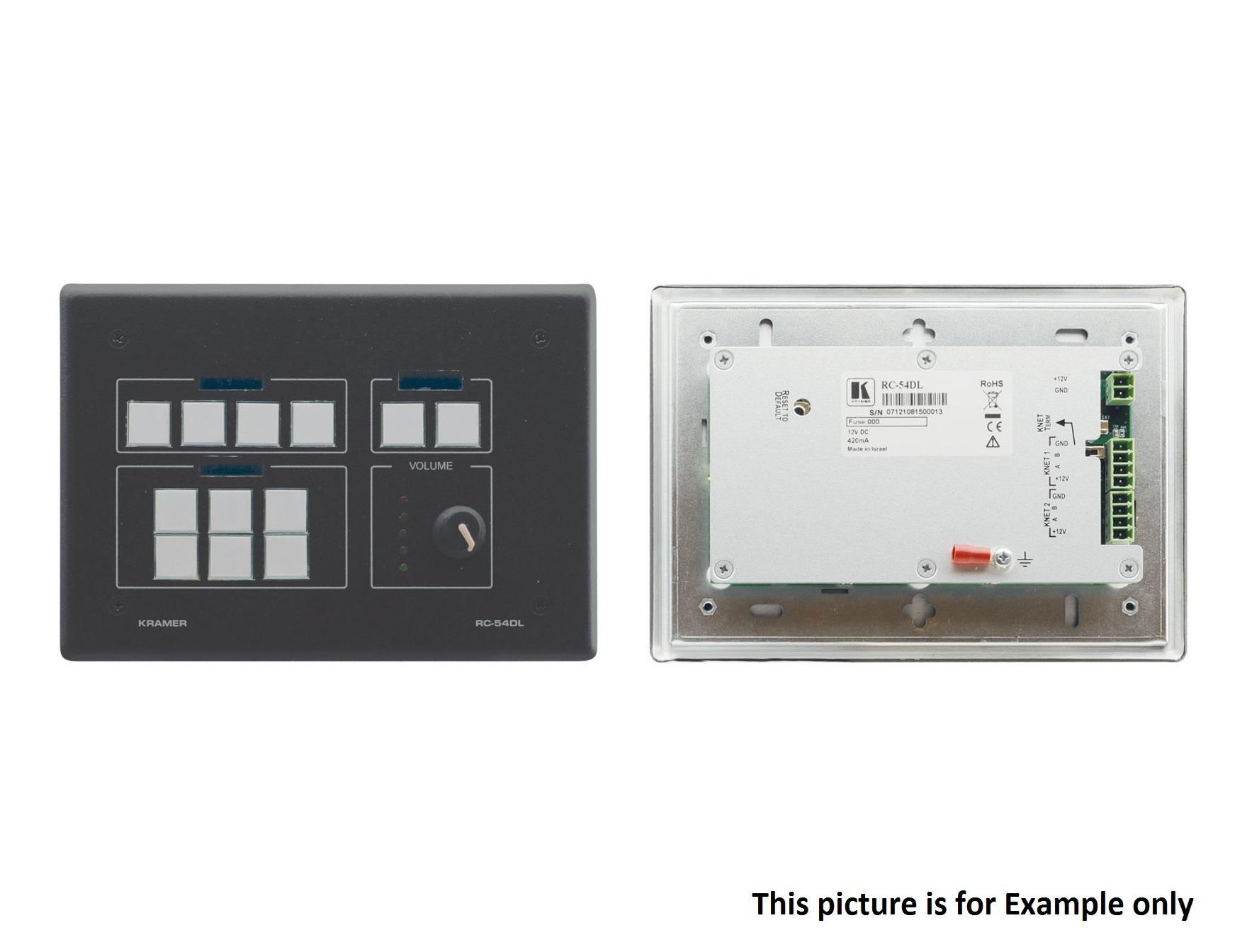 RC-54DL(B) 12-Button KNET Auxiliary Control Panel/Black by Kramer