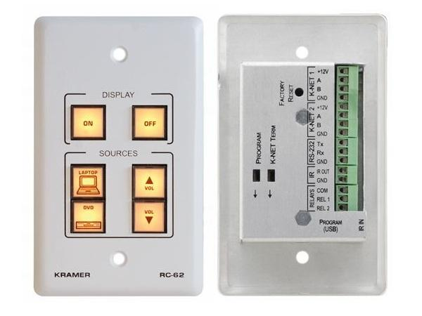 RC-62(W) 6-Button Room Controller with Printed Group Labels/White by Kramer