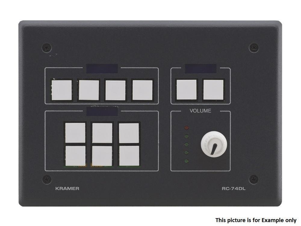 RC-74DL(B) 12-Button Master Room Controller w Digital Volume Knob/Black by Kramer