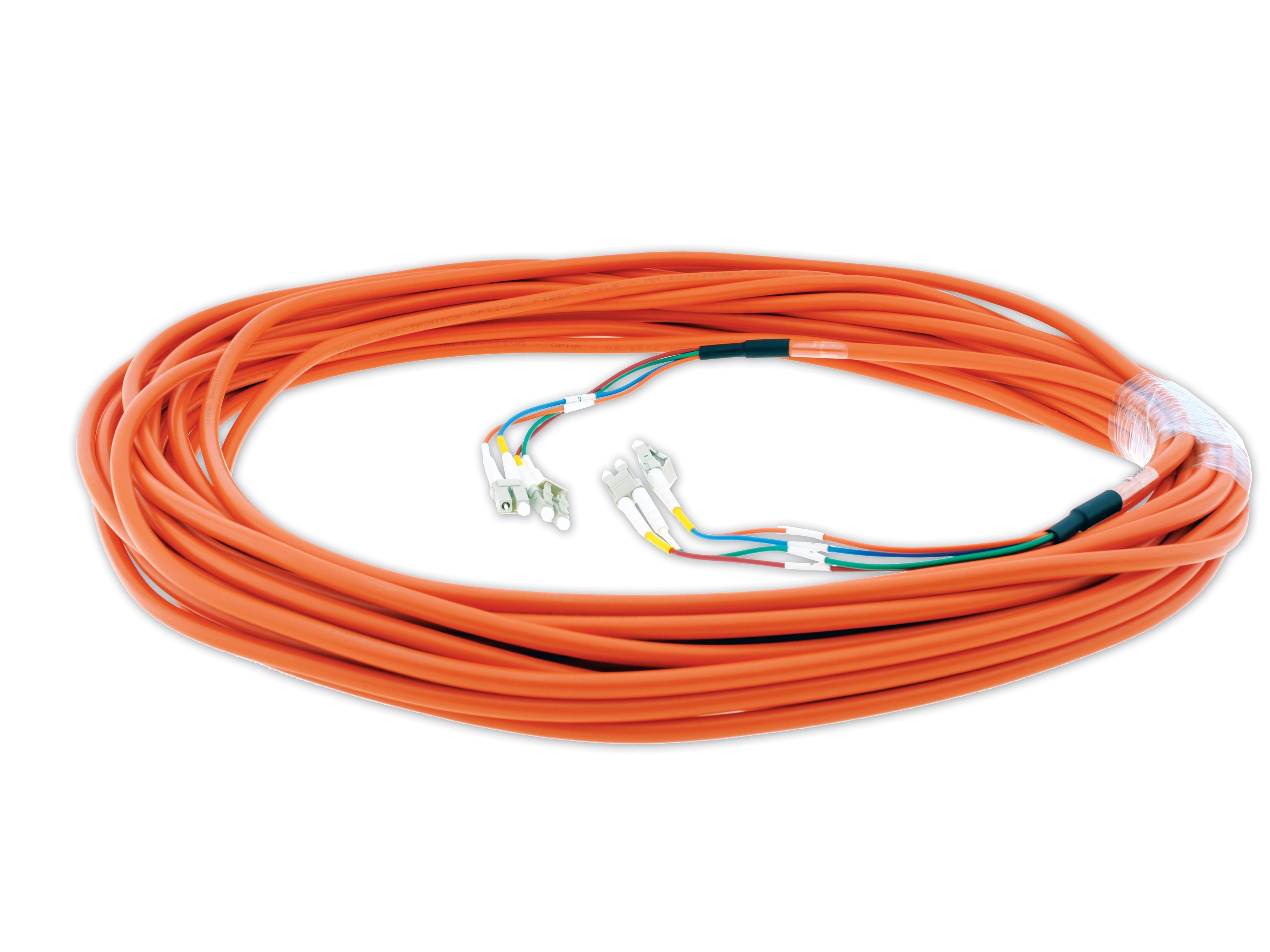 CP-4LC/4LC-99 99ft 4 LC Plenum Rated Fiber Optic Cable by Kramer