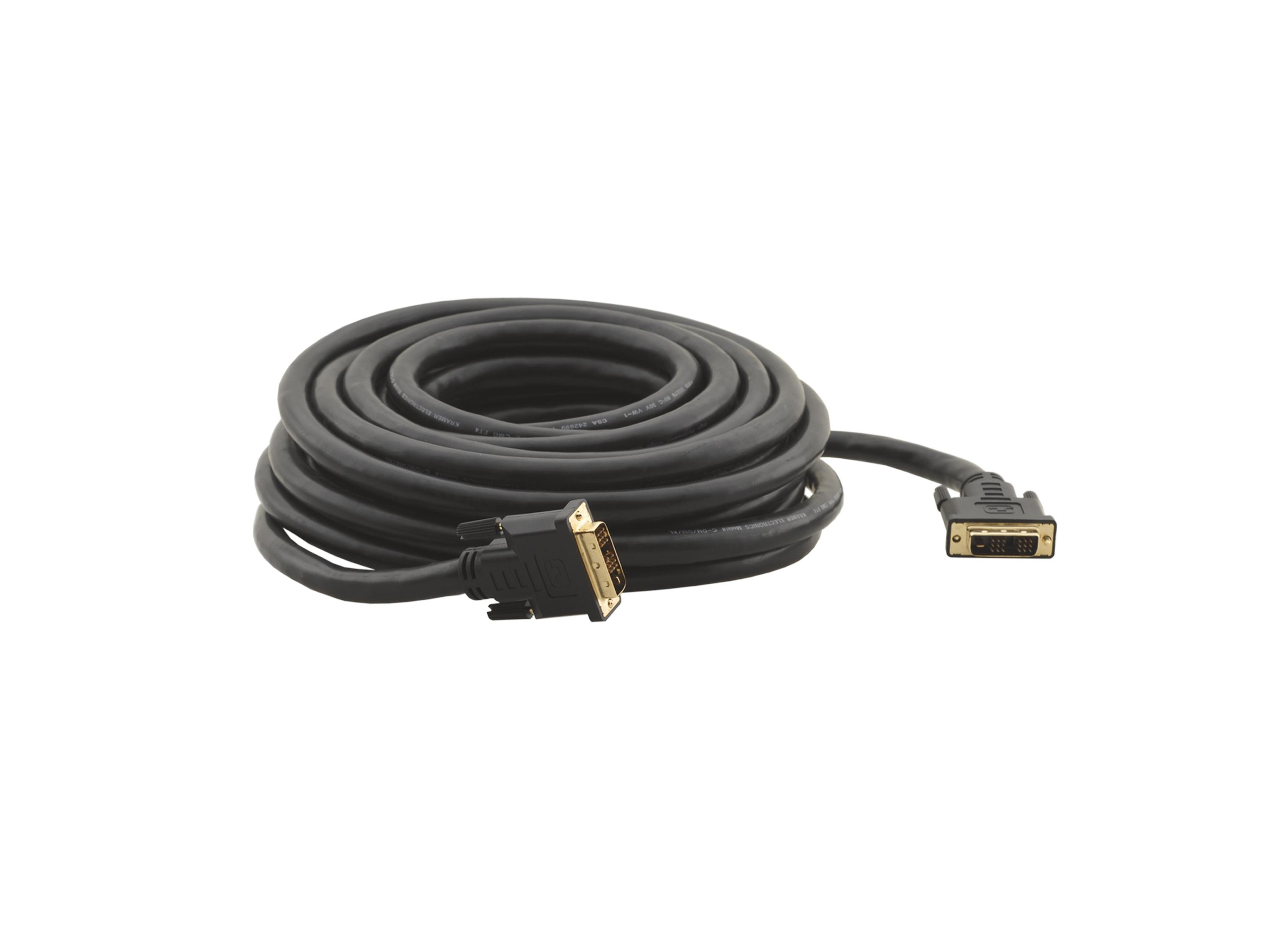 C-DM/DM/XL-50 50ft DVI-D (M) to DVI-D (M) Cable (HDCP Compliant) by Kramer