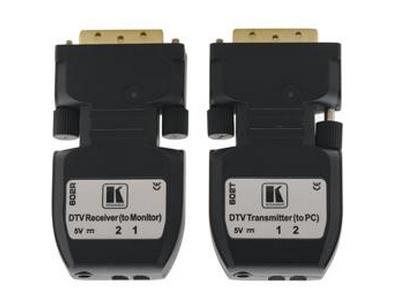 602R/T DVI over Fiber Optic Extender (Transmitter/Receiver) Kit - 2LC Cable by Kramer