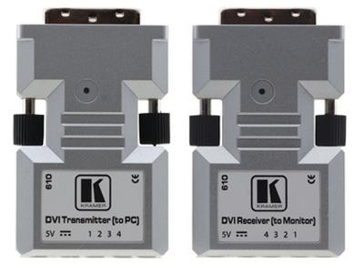 610R/T Detachable DVI Optical Extender (Transmitter/Receiver) Set by Kramer