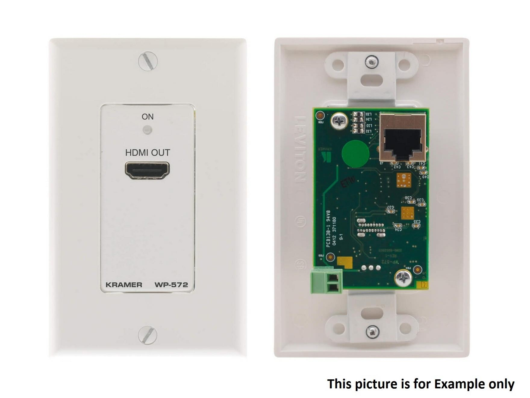 WP-572(B) Active Wall Plate HDMI over Twisted Pair Extender (Receiver)/Black by Kramer