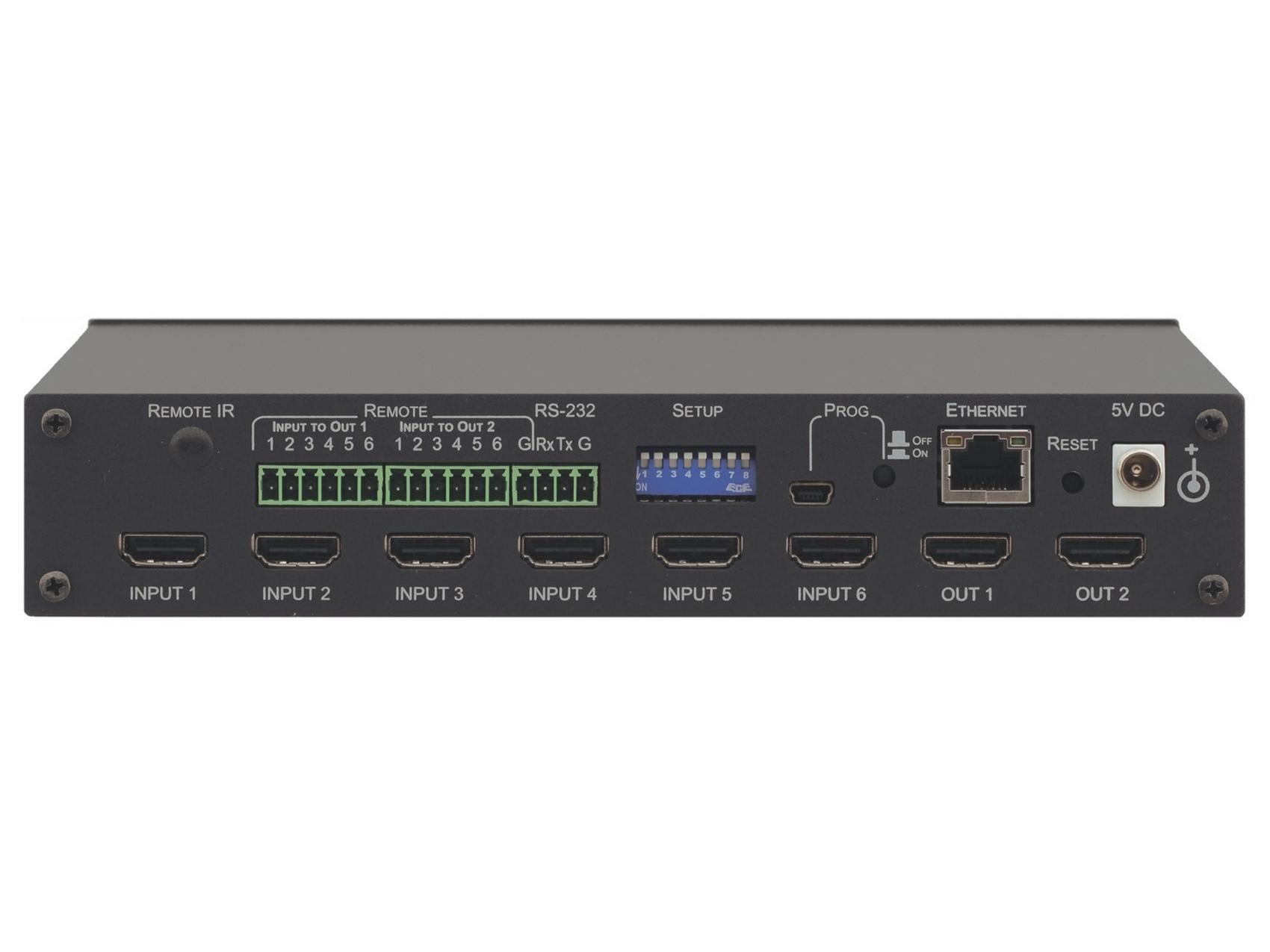 VS-62H 6x2 4K UHD HDMI HDTV/HDCP 3D Matrix Switcher by Kramer