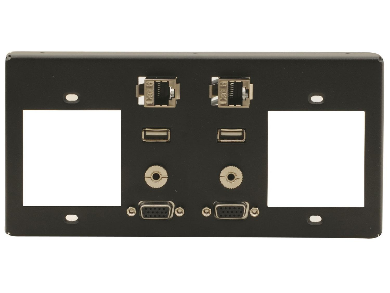 T4F-2S 2 Single Power Sockets Slots by Kramer