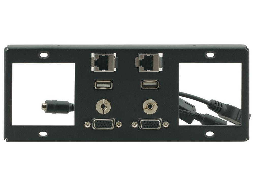 T6F-2S 2 Single Power Sockets Slots by Kramer